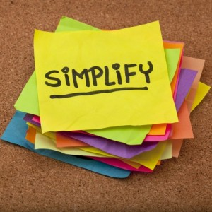 Post-it note SIMPLIFY